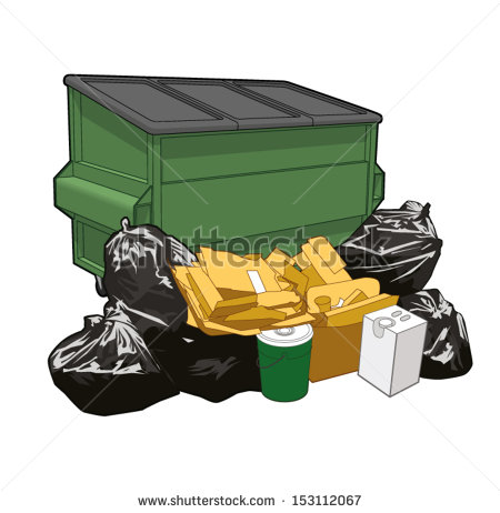 stock-vector-heap-od-garbage-in-front-of-a-dumpster-153112067